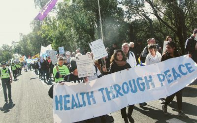 End the cycle of violence: 270 health workers take action against UK DSEI Arms Fair