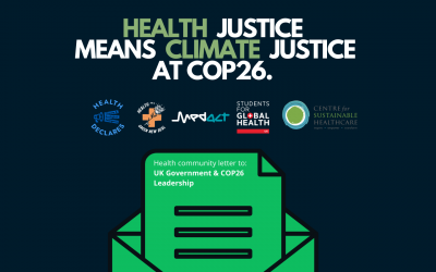 Health Justice Means Climate Justice at COP26 ─ letter to the UK Government & COP26 leadership