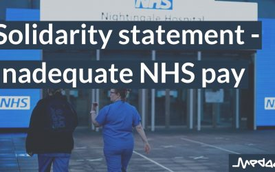 Solidarity statement – Inadequate NHS pay
