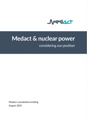 Medact nuclear power briefing cover
