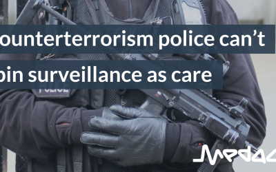 Counterterrorism police can't spin surveillance as care